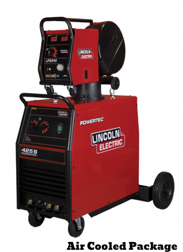 Lincoln Powertec 425S Mig Welder,  Air Cooled , 5m Interconnection - Ready to weld